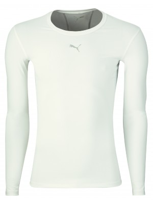 Puma compression tee long sleeve - white