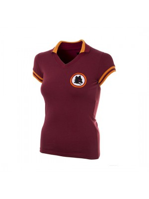 AS Roma 1978 - 79 Womens Short Sleeve Retro Football Shirt
