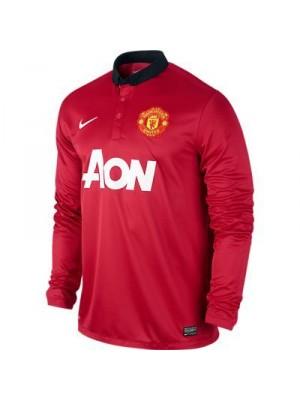 Manchester United hjemme trøje Lange Ærmer 2013/14 til børn