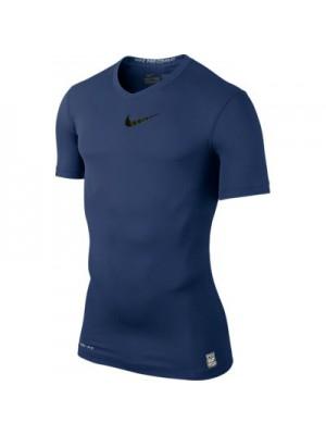 Nike Pro Combat short sleeve top - navy