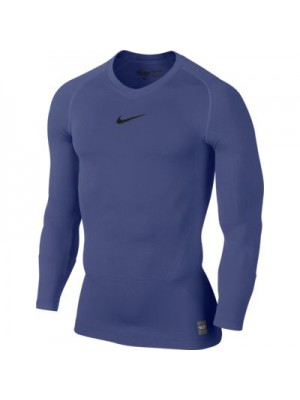 Nike Pro Combat long sleeve top - navy