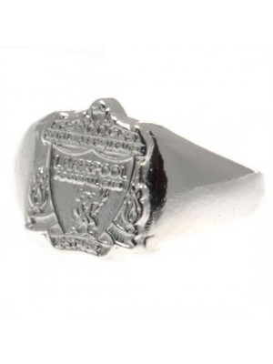 Liverpool FC Silver Plated Crest Ring Small