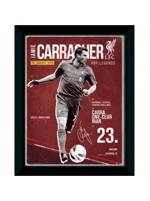 Liverpool FC Picture Carragher Retro 16 x 12