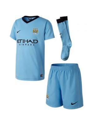 Manchester City hjemme mini sæt 2014/15  - små drenge