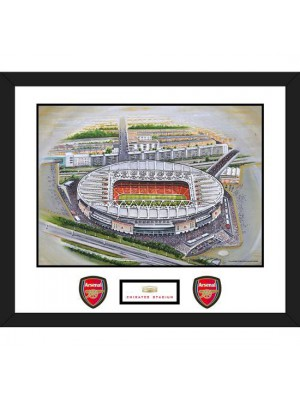 Arsenal FC Stadia Art Mounted Print Emirates