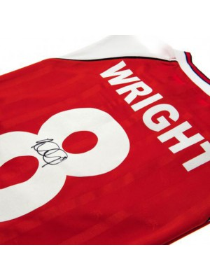 Arsenal FC Wright Signed Shirt
