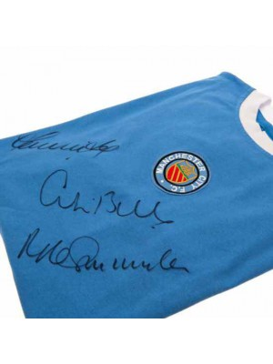 Manchester City FC Bell / Lee / Summerbee Signed Shirt
