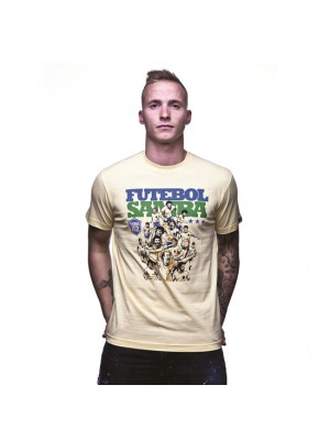 Futebol Samba T-Shirt Yellow 100% cotton