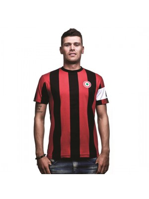 Milan Capitano T-Shirt Black Red 100% cotton