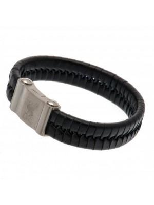 Liverpool FC Single Plait Leather Bracelet