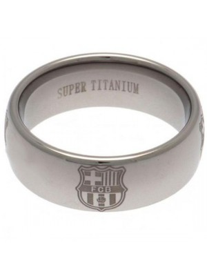 FC Barcelona Super Titanium Ring Small