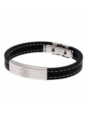 Chelsea FC Stitched Silicone Bracelet
