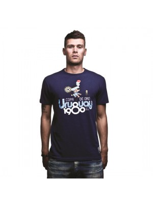 Uruguay 1980 T-Shirt Marine Blue 100% cotton