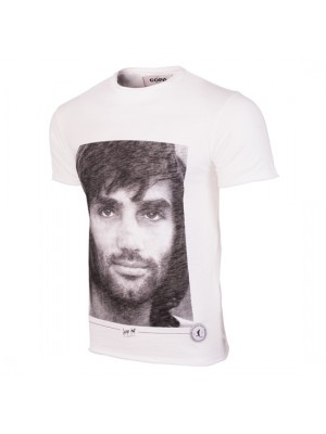 George Best Portrait T-Shirt White 100% cotton