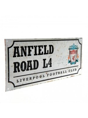 Liverpool FC Retro Street Sign