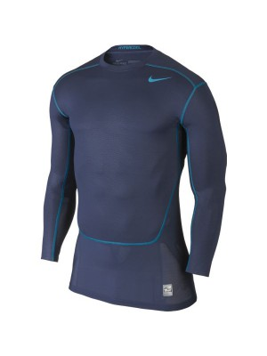 Hypercool Max compression top L/S navy