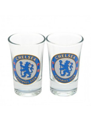 Chelsea FC 2 Pack Shot Glass Set