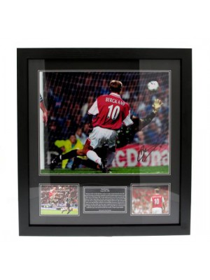 Arsenal FC Bergkamp Signed Framed Print