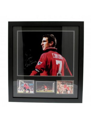 Manchester United FC Cantona Signed Framed Print