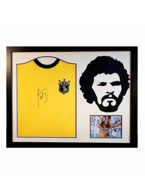 Brasil Socrates Signed Shirt Silhouette