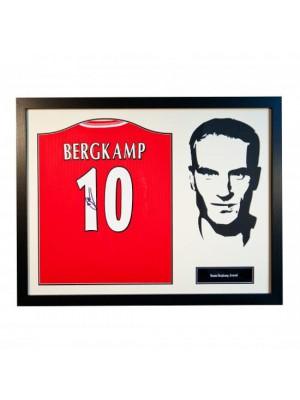 Arsenal FC Bergkamp Signed Shirt Silhouette