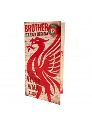 Liverpool FC Birthday Card Brother