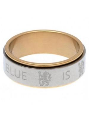 Chelsea FC Bi Colour Spinner Ring Small