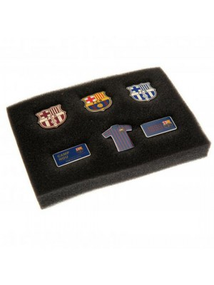 FC Barcelona 6 Piece Badge Set