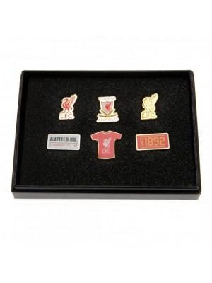Liverpool FC 6 Piece Badge Set