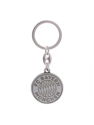 FC Bayern Munchen Keyring Logo silver