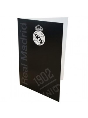 Real Madrid FC Greetings Card Black