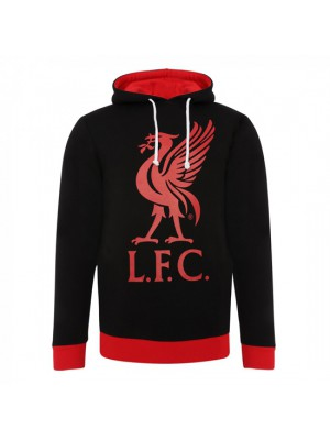 Liverpool Mens Black Liverbird Hoody