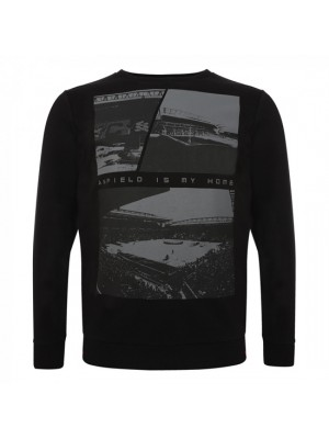 Liverpool Mens Black Ground Crew Sweater