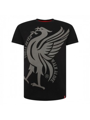Liverpool Mens Black Liverbird Ynwa Tee