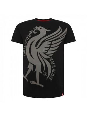 Liverpool Mens Black Liverbird Ynwa Tee