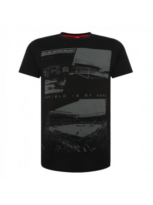 Liverpool Mens Black Anfield Tee