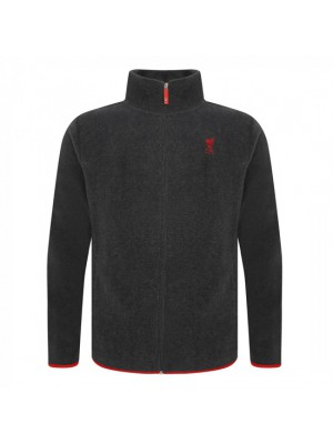 Liverpool Mens Grey Zip Thru Fleece