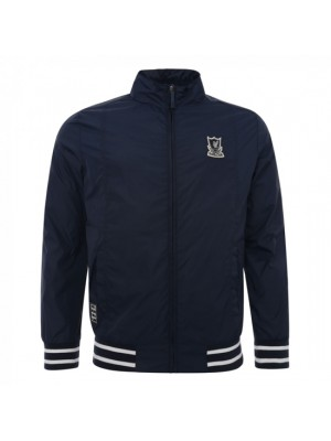 Liverpool Mens Navy Funnel Neck Harrington Jacket