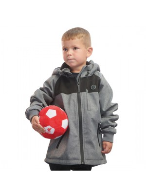 Liverpool Boys Grey Hooded Lightweight Jacket
