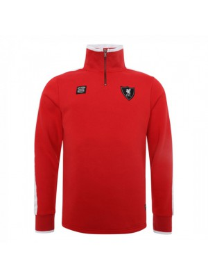 Liverpool Mens Red 1/4 Zip Through