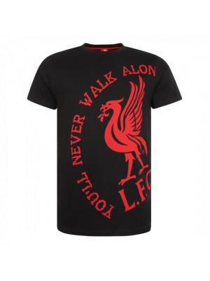 Liverpool Mens Black You'Ll Never Walk Alone Tee