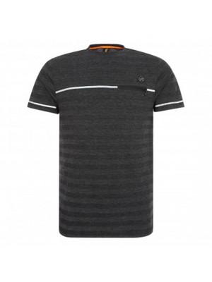 Liverpool Tonal Stripe Tee - Black