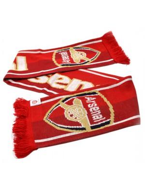 Arsenal Football Club Jacquard Knit Scarf Red