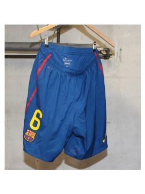 Barcelona home shorts - number 6
