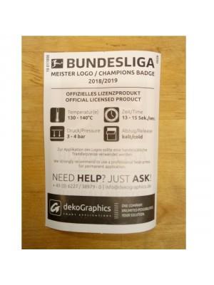 Bundesliga Meister 18/19 ærmemærke - player's size