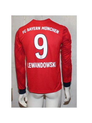 Bayern boys long sleeve home jersey