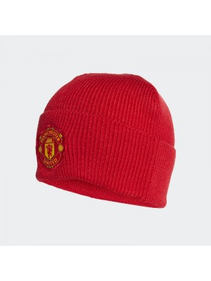Man Utd woolie hat in red