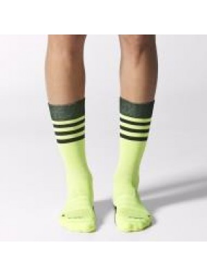 Adidas crew light weight socks - lime green