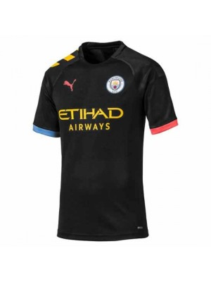 Manchester City 'Sane 19' Kids Away Shirt With Champions Pl Patch 2019/20