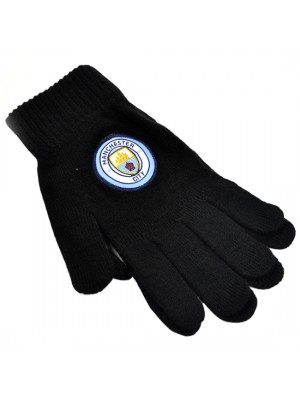 Manchester City Knitted Gloves New Crest